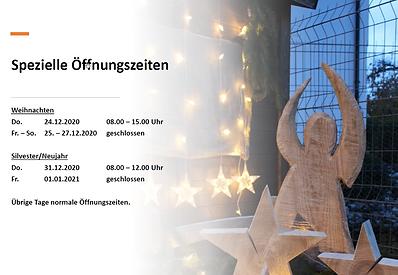 Öffnungszeiten Weihnachten 2020 Hofladen