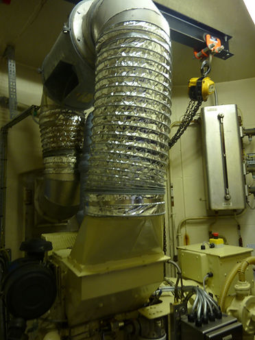 Engine room inside Bishop Rock lighthouse © Jon Mackenzie