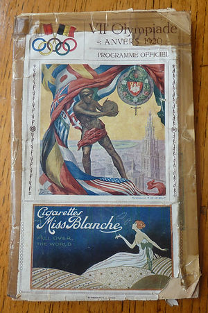 1920 Olympics official programme