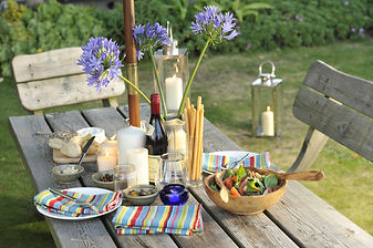 Al fresco dining on the Isles of Scilly