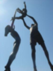 Tresco Children Statue by David Wynne, Tresco Abbey Garden, Isles of Scilly