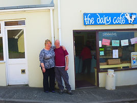Yve and Mick Peck, Dairy Cafe, Isles of Scilly