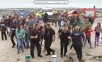 Isles of Scilly Police Running Man Challenge 2016