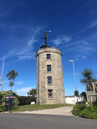 Telegraph Tower, St Mary's, Isles of Scilly restored to a semaphore station