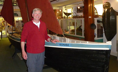 Bill Helmuth, Gloucester Gig Rowers, Massachusetts in the Isles of Scilly Museum