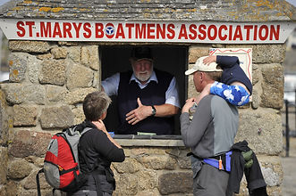 St Mary's Boatmen's Association ticket booth on St Mary's quay, Isles of Scilly