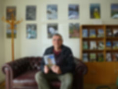 Peter Laverock with his book Trinder's Telegraph