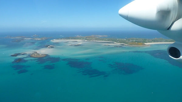 Scilly from the air by Beth Hilton