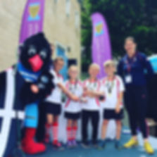 Ruby May, Ashton Littlejohn, Maddie Blackwell and Coen Hughes from the Isles of Scilly