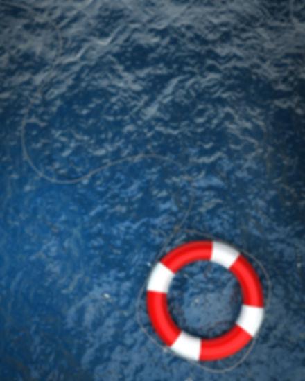 Life ring at sea