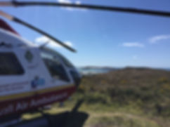 Cornwall Air Ambulance on Tresco