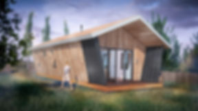 Computer generated image of new cabins at Peninnis farm