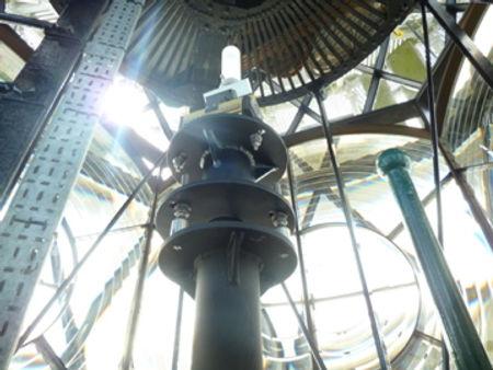 Inside the lantern at Bishop Rock Lighthouse © Jon Mackenie