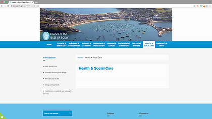 Council of the Isles of Scilly website