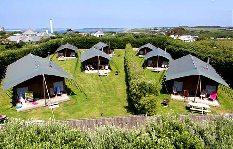 Glamping at Peninnis Farm, St Mary's, Isles of Scilly