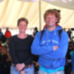 Team Scilly - Bryony Lishman and Rob carrier ahead of the OTILLO race