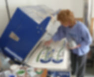 Oriel Hicks, glass artist, Isles of Scilly