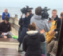 Ben Fogle filming on the Isles of Scilly