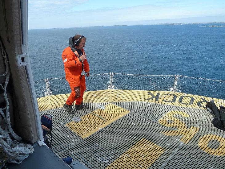Engineer on Bishop Rock lighthouse, by Jon Mackenzie