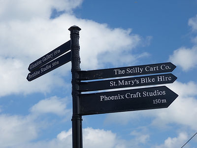 New sign at Porthloo, St Mary's, Isles of Scilly