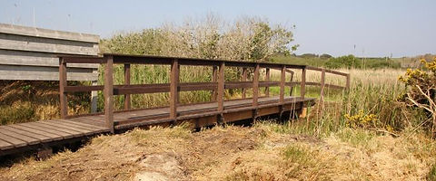 Isles of Scilly Wildlife Trust boardwalk made from recycled materials