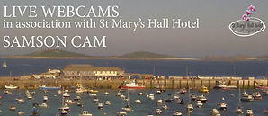 Isles of Scilly webcam Samson view