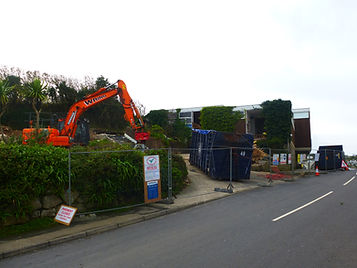 Demolition of the old secondary school, St Mary's, Isles of Scilly