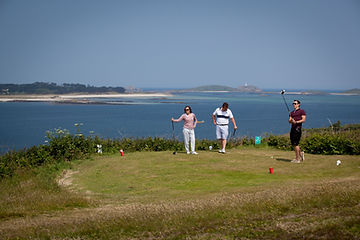 Golfing on St Mary's, Isles of Scilly