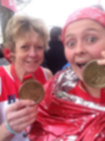 Helen Pearce from the Isles of Scilly after the 2016 London Marathon