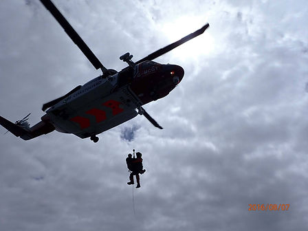 Helicopter rescue on the Isles of Scilly