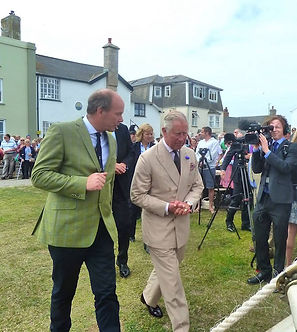 Prince Charles on St Mary's, Isles of Scilly