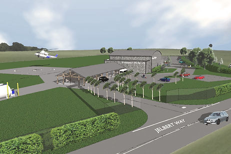 Penzance Heliport artist illustration