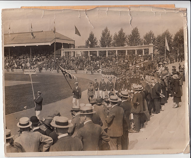 The Opening ceremony of the VII Olympiad, Antwerp, 1920