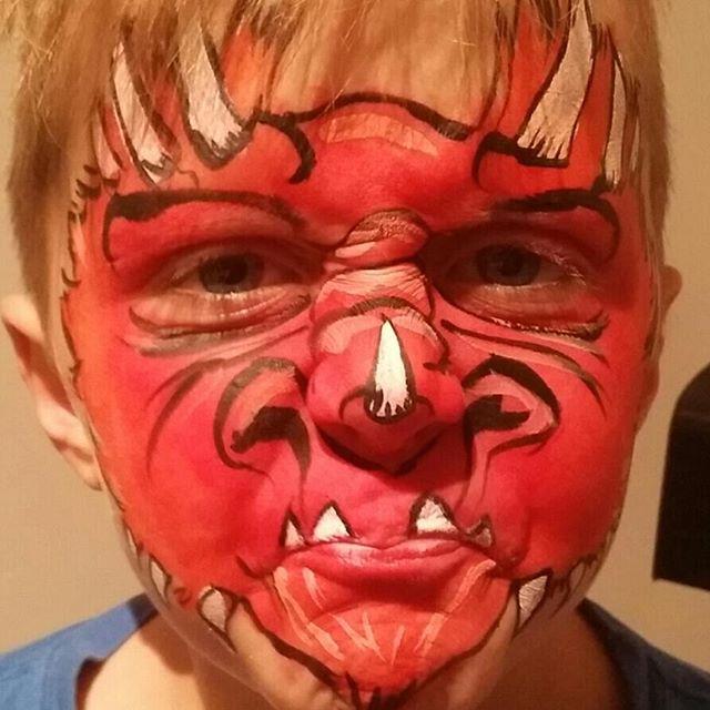 #scary #monster #facepainting #devil