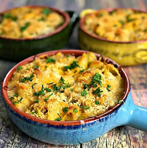 Caramelized Onion and Mushroom Macaroni and Cheese