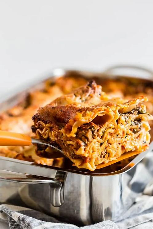 Italian Mushroom Sausage Lasagna