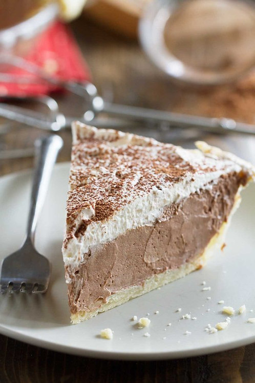 Old Fashion Chocolate Cream Pie with Homemade Whipped Cream