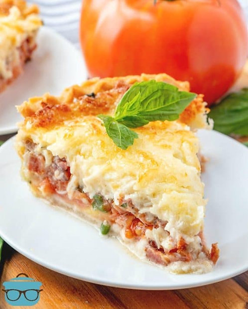 Tomato, Cheddar and Bacon Pie