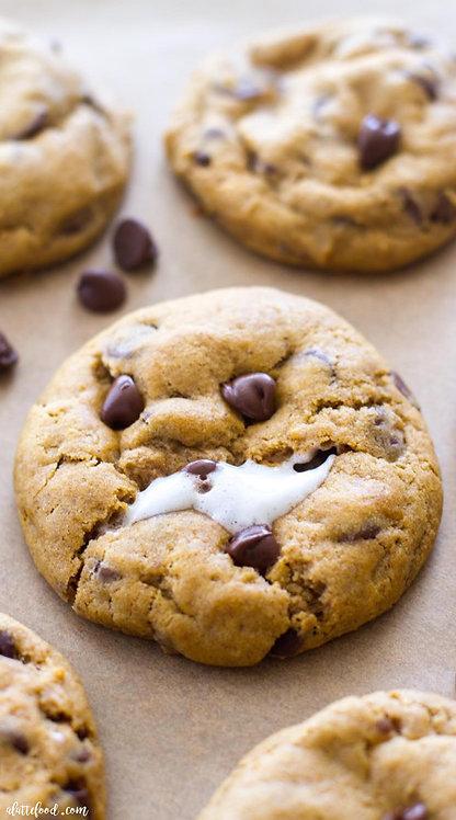 Marshmello Chocolate Chip Cookies