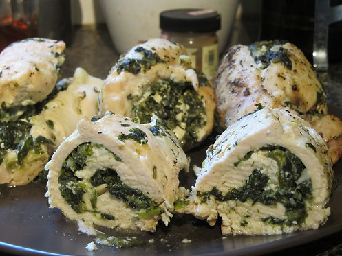 Chicken Rollatini with Spinach and Parmesan
