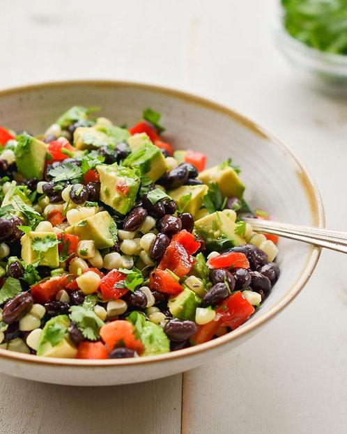 Black Bean Salad with Corn and Lime Vinaigrette