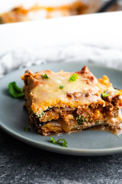 Lasagna with Roasted Eggplant and Ricotta Filling