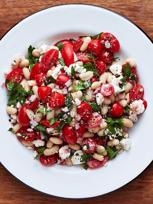 Tomato, White Bean and Feta Salad