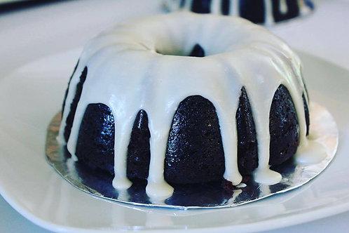 Dark Chocolate Mini Bundt Cake (Servings 4-6)