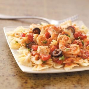 Creamy Bowtie Pasta with Chicken and Shrimp