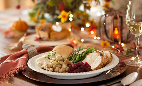 Individual Turkey Dinner Plate