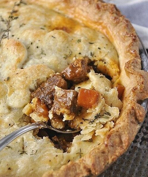 Beef & Cheddar Pot Pie
