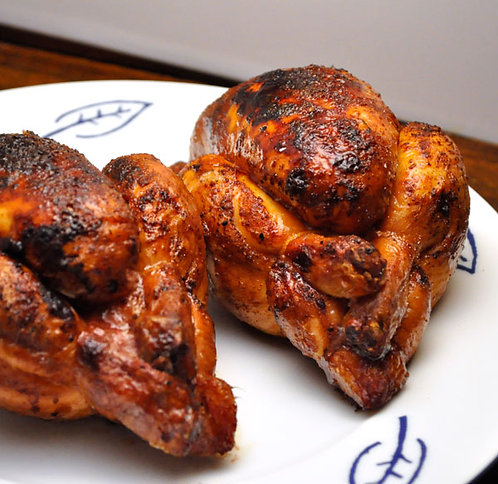 Honey Barbeque Cornish Hen with Sides