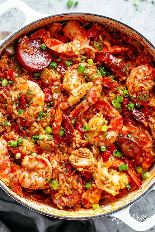 Creole Jambalaya with Jumbo Shrimp