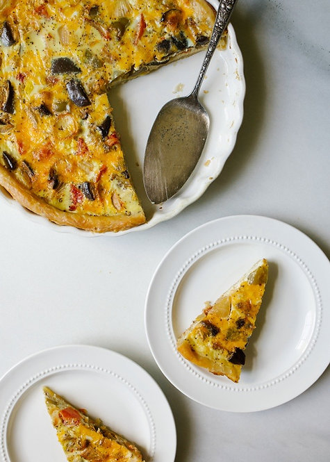 Roasted Vegetable Quiche